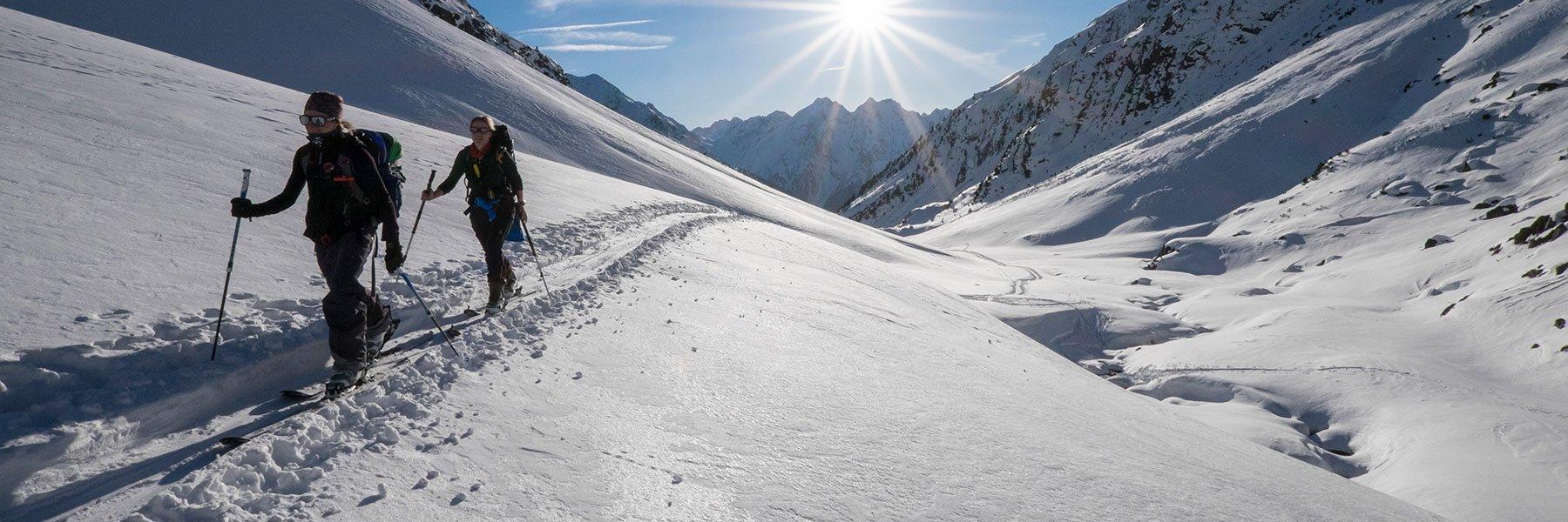 Skitour entlang des Winnebach